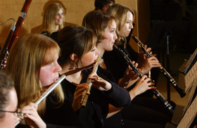students perform as part of Hurley Orchestra