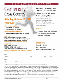 Kids' Cross Country Run Takes To The Trails Oct  16