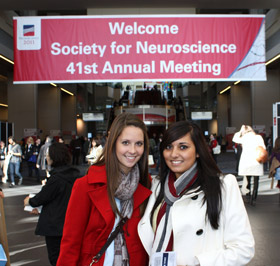 Neuroscience students at SfN