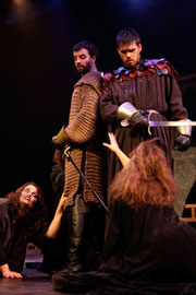 Student acting Macbeth