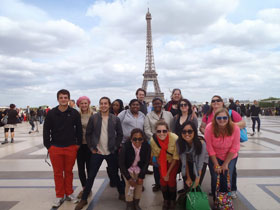 Centenary students in Paris, Spring 2013